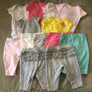 3 Month Baby Girl Bundle 13 Pieces